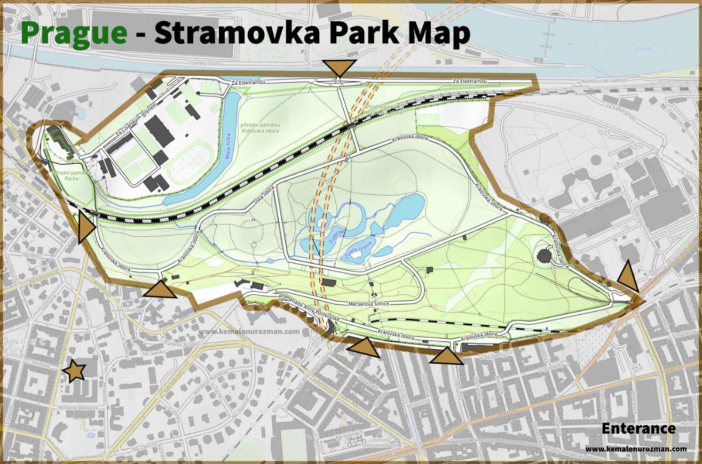 Stramovka Park Plan Map